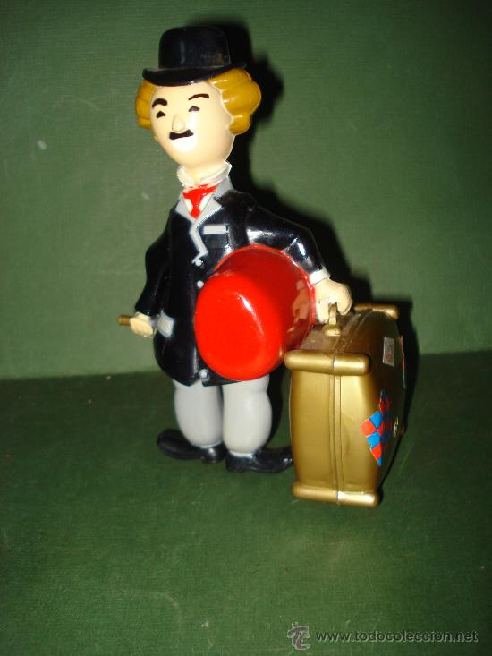 Juguetes antiguos Román: Charles Chaplin CHARLOT. Juguete mecanico de Juguetes ROMAN , IBI . En magnifico estado.Año 1960s. - Foto 5 - 24871970
