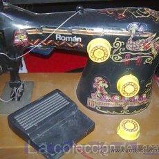 Juguetes antiguos Román - MAQUINA DE COSER CON PEDAL ROMÁN A PILAS - 28193225