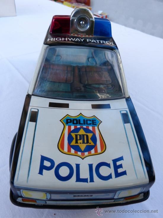 Juguetes antiguos Román: coche de policia román 36 cm salvaobstáculos - Foto 2 - 34863795