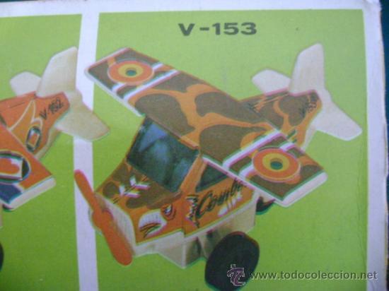 Juguetes antiguos Román: Avión a fricción Román serie 150 V-153 - Foto 5 - 35627145