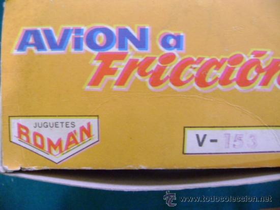 Juguetes antiguos Román: Avión a fricción Román serie 150 V-153 - Foto 4 - 35627145