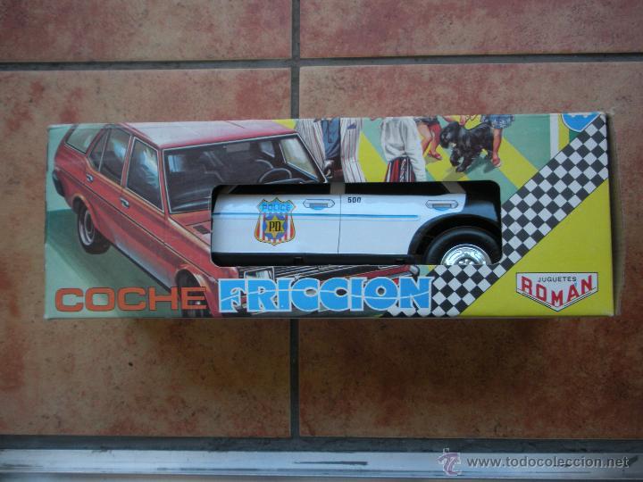 Juguetes antiguos Román: coche policia a friccion , marca roman de chapa y plastico, medidas 37 x 13 x 15 cm, caja nueva, - Foto 2 - 39835879