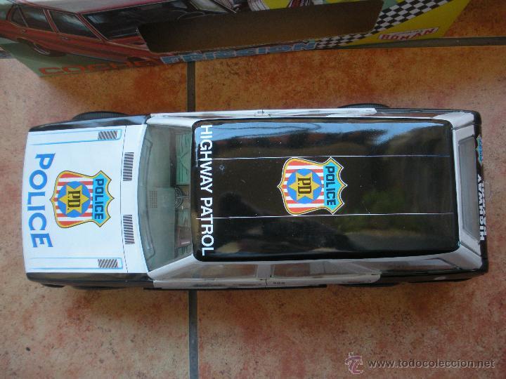 Juguetes antiguos Román: coche policia a friccion , marca roman de chapa y plastico, medidas 37 x 13 x 15 cm, caja nueva, - Foto 4 - 39835879