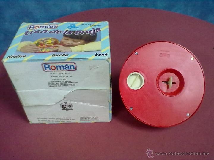 Juguetes antiguos Román: ROMAN JUGUETES TREN DE LA BRUJA FUNCIONANDO TIRELINE HUCHA BANK TRAIN BANK - Foto 6 - 43522096
