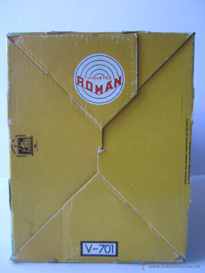 Juguetes antiguos Román: LOCOMOTORA DE TREN A FRICCIÓN JUGUETES ROMÁN REF V 701 CHAPA Y PLÁSTICO NUEVA CAJA . - Foto 16 - 53451267