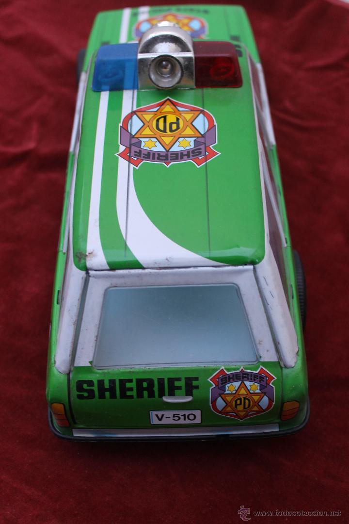 Juguetes antiguos Román: COCHE SHERIFF PD, SALVAOBSTACULOS A PILAS DE ROMAN, AÑOS 70 - Foto 2 - 54330874