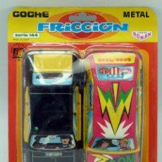 Altes Spielzeug Román - 2 coches metal Román a fricción nuevos en blister Hojalata litografiada Serie 144 Taxi Barcelona - 82446754
