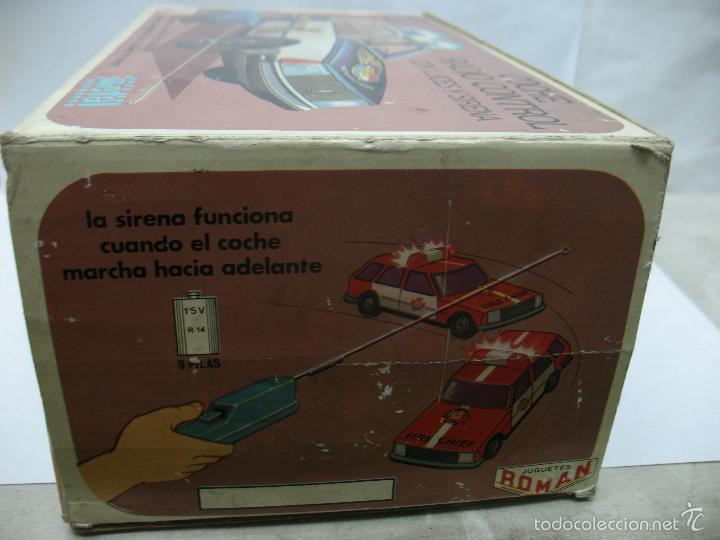 Juguetes antiguos Román: ROMAN Ref: 4350 - Coche de policía de plástico con mecanismo a pilas - Foto 9 - 57971166
