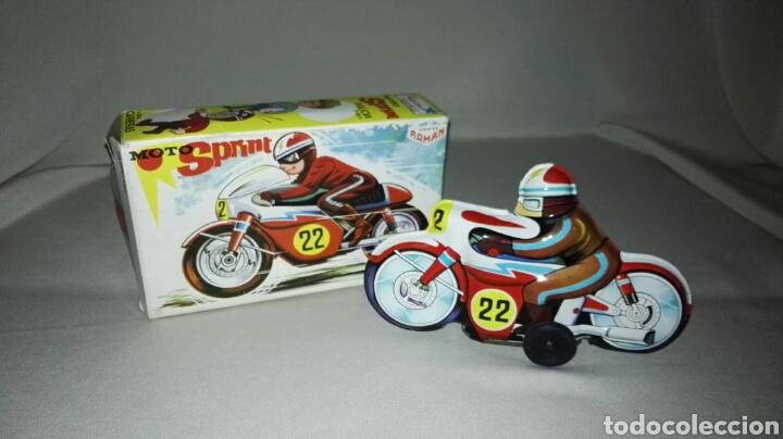 MOTO SPRINT V-202 CARRERAS DE JUGUETES ROMAN (Juguetes - Marcas Clásicas - Román)