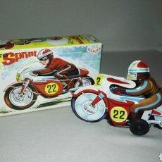 Juguetes antiguos Román: MOTO SPRINT V-202 CARRERAS DE JUGUETES ROMAN . Lote 62559410