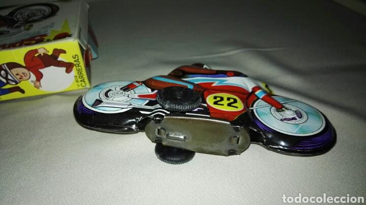 Juguetes antiguos Román: Moto sprint V-202 carreras de juguetes roman - Foto 3 - 62559410