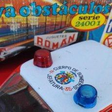 Juguetes antiguos Román: ANTIGUO COCHE METÁLICO BOMBEROS MARCA ROMAN- SALVAOBSTACULOS, AÑOS 70'S. EN CAJA ORIGINAL.. Lote 178745835