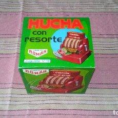 Juguetes antiguos Román: HUCHA CON RESORTE - ROMAN - NUEVA DE JUGUETERIA - COMPROBADA. Lote 75774739