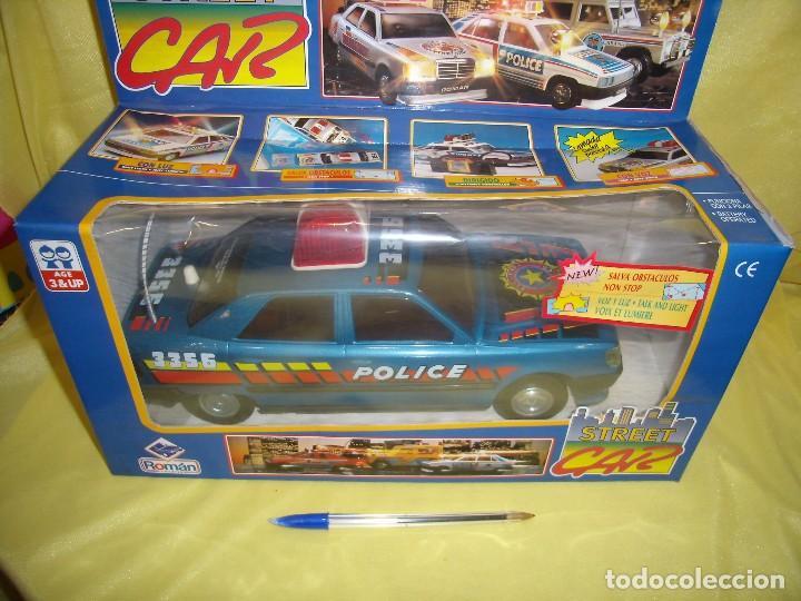 COCHE POLICÍA SALVAOBSTACULOS DE ROMAN, REF 3356, AÑO 1991, NUEVO, FUNCIONANDO. (Juguetes - Marcas Clásicas - Román)