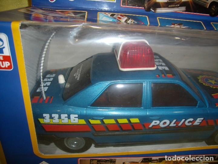 Juguetes antiguos Román: Coche policía salvaobstaculos de Roman, Ref 3356, año 1991, Nuevo, Funcionando. - Foto 4 - 87496228