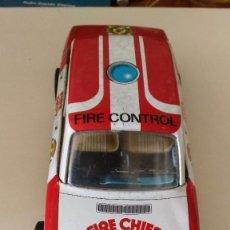 Juguetes antiguos Román: FIRE CHIEF - FIRE CONTROL - COCHE DE FRICCION. Lote 94742731
