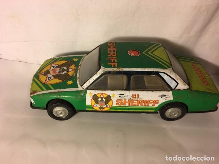 ANTIGUO COCHE ROMAN EN HOJA DE LATA HOJALATA SHERIFF (Spielzeug - Klassische Marken - Román)
