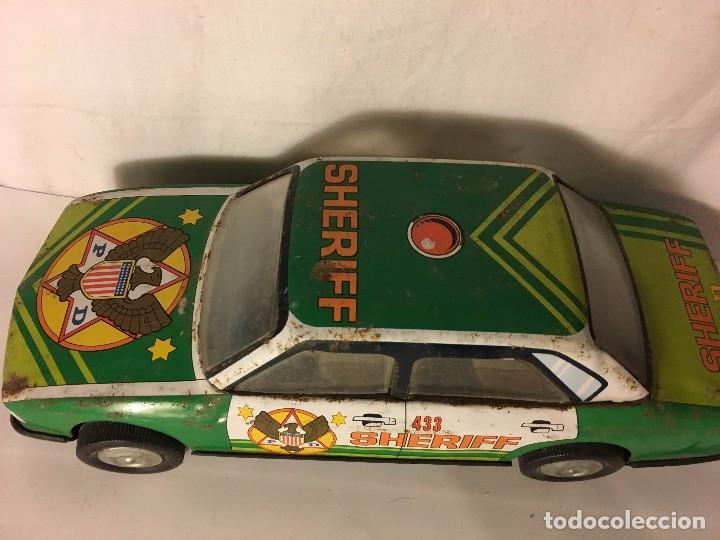 Altes Spielzeug Román: ANTIGUO COCHE ROMAN EN HOJA DE LATA HOJALATA SHERIFF - Foto 2 - 98229187