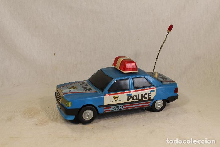 COCHE HOJALATA POLICIA ROMAN POLICE 352 (Juguetes - Marcas Clásicas - Román)
