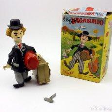 Brinquedos antigos Román: CHARLOT EL ALEGRE VAGABUNDO - JUGETES ROMAN - EN SU CAJA ORIGINAL - FUNCIONANDO - AÑOS 60. Lote 137262793