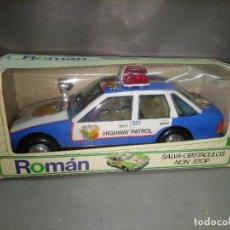 Juguetes antiguos Román: 818- ROMAN SALVA OBSTACULOS NON STOP (FORD SIERRA POLICIA) 80S NEW /VIEJO STOCK/1. Lote 114984591
