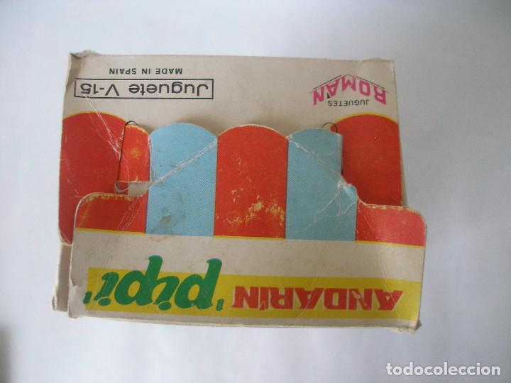 Juguetes antiguos Román: Caja vacía muñeco Pipi andarín Serie Mágicos resortes Román año 70 - Foto 4 - 122194575