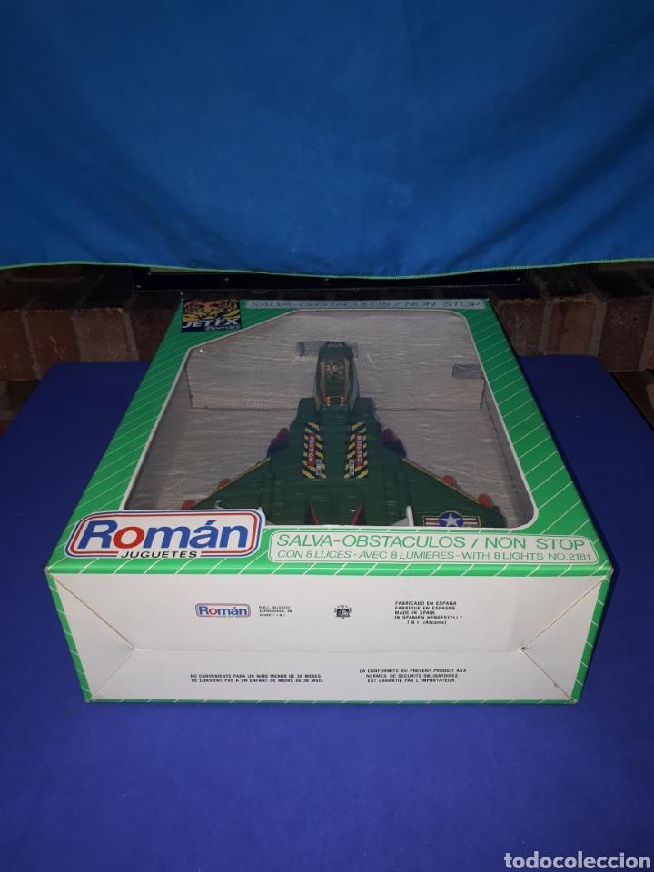 Juguetes antiguos Román: ROMAN AVION GUERRA MILITAR EN CAJA A ESTRENAR!! TIPO RICO , PAYA - Foto 3 - 131489278