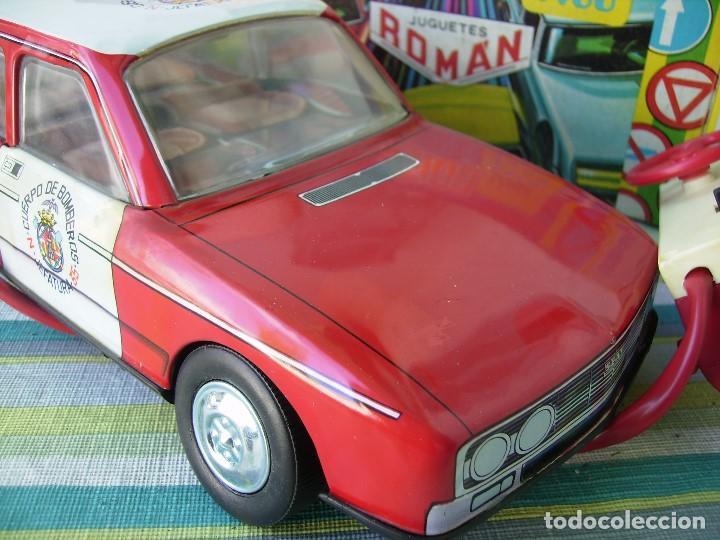 Juguetes antiguos Román: coche de bomberos teledirigido sin utilizar en caja original años 70 de roman - Foto 3 - 142910014