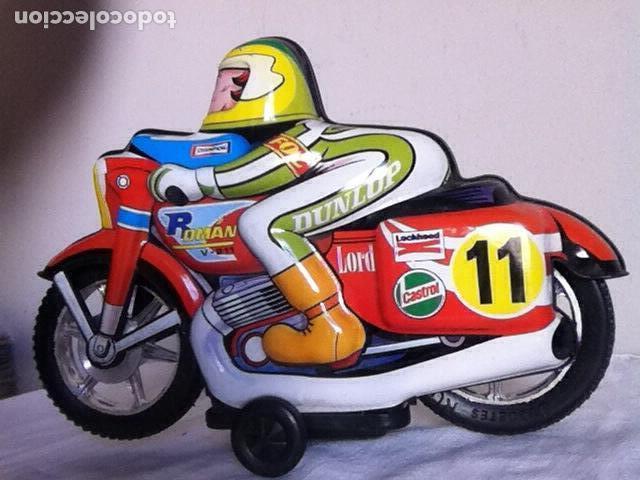 Altes Spielzeug Román: MOTO a FRICCIÓN NUEVA de ROMÁN 23 cm. En CAJA - Foto 2 - 151108446