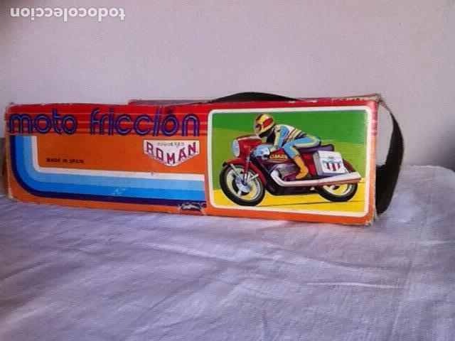 Altes Spielzeug Román: MOTO a FRICCIÓN NUEVA de ROMÁN 23 cm. En CAJA - Foto 6 - 151108446