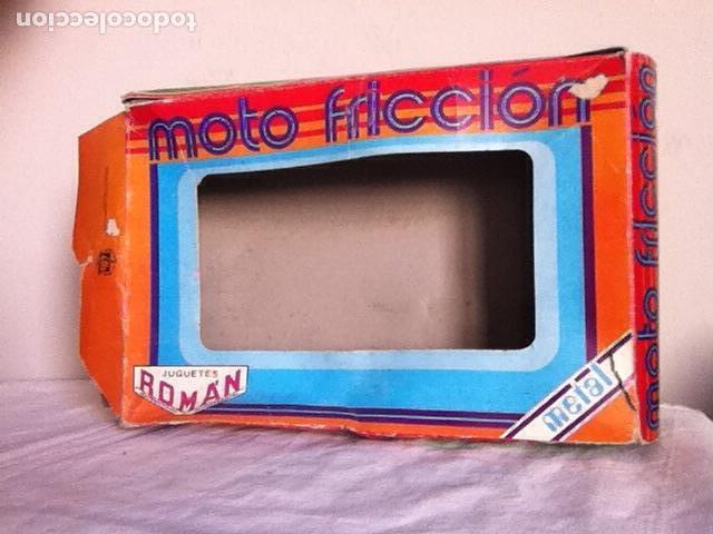 Altes Spielzeug Román: MOTO a FRICCIÓN NUEVA de ROMÁN 23 cm. En CAJA - Foto 7 - 151108446