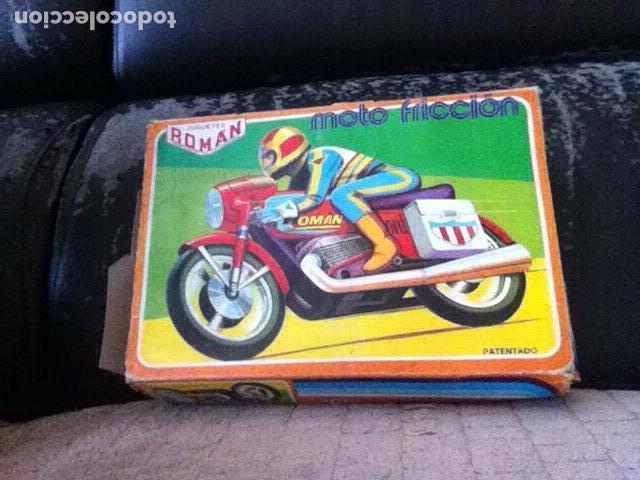 Altes Spielzeug Román: MOTO a FRICCIÓN NUEVA de ROMÁN 23 cm. En CAJA - Foto 4 - 151108446