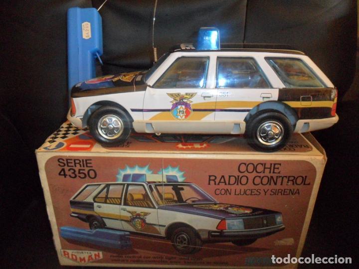 COCHE POLICIA JUGUETES ROMÁN SERIE 4350 - EN CAJA, FUNCIONANDO, SIN DEFECTOS- RADIO CONTROL LUCES Y (Juguetes - Marcas Clásicas - Román)