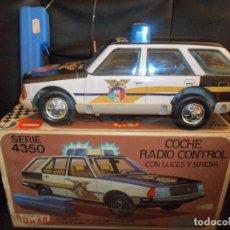 Juguetes antiguos Román: COCHE POLICIA JUGUETES ROMÁN SERIE 4350 - EN CAJA, FUNCIONANDO, SIN DEFECTOS- RADIO CONTROL LUCES Y . Lote 155671006