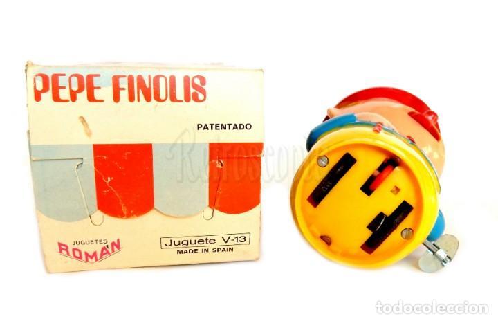 Juguetes antiguos Román: PEPE FINOLIS A CUERDA. SERIE MÁGICOS RESORTES. JUGUETES ROMÁN V-13. CON SU CAJA ORIGINAL AÑOS 60 - Foto 6 - 155841362