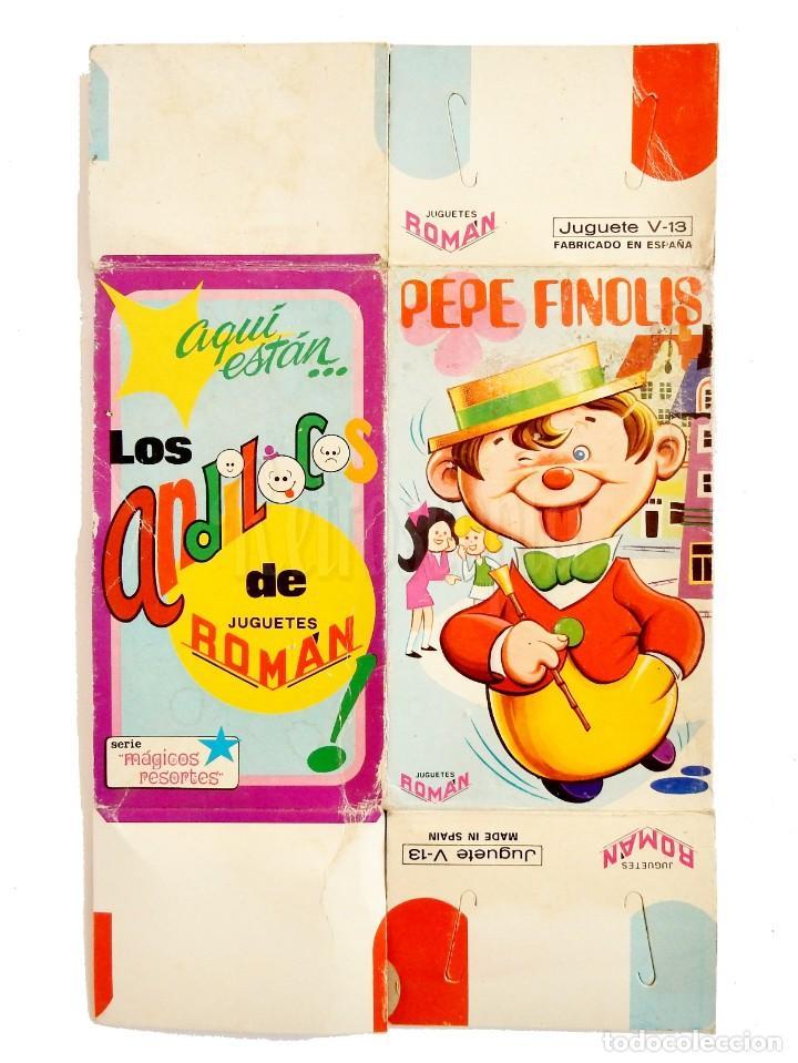 Juguetes antiguos Román: PEPE FINOLIS A CUERDA. SERIE MÁGICOS RESORTES. JUGUETES ROMÁN V-13. CON SU CAJA ORIGINAL AÑOS 60 - Foto 8 - 155841362