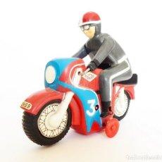 Juguetes antiguos Román: MOTO DE CARRERAS Nº 3 MOTOCICLETA A CUERDA DE ROMÁN. AÑOS 60 FUNCIONANDO . Lote 155842630