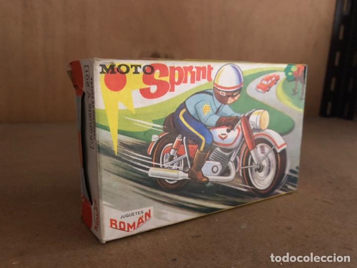 Juguetes antiguos Román: Moto chapa 1960 marca ROMAN - Foto 2 - 161604550