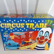 Juguetes antiguos Román: TREN ELECTRICO CON LUZ CIRCUS TRAIN ROMAN JUGUETES NUEVO EN CAJA. Lote 164794197