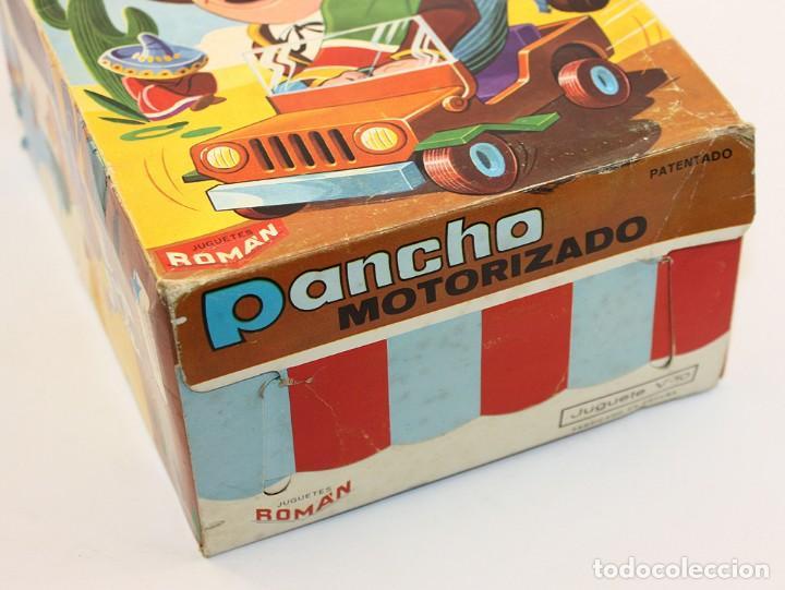 Juguetes antiguos Román: PANCHO MOTORIZADO - JUGUETES ROMAN - NUEVO Y EN SU CAJA ORIGINAL - AÑOS 70 - A CUERDA - Foto 9 - 167142068