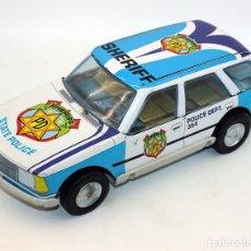Brinquedos antigos Román: ANTIGUO COCHE DE POLICIA A FRICCION DE ROMAN - RENAULT - FRICCION AÚN FUNCIONA - 30CM. Lote 177839779