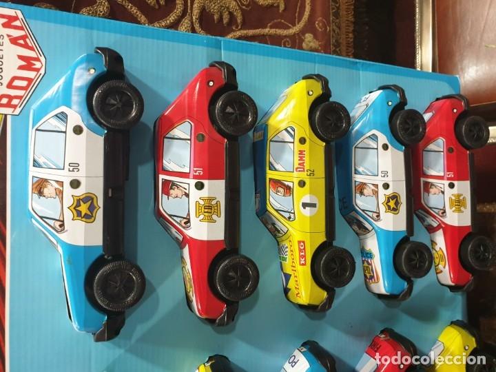 Juguetes antiguos Román: Coches friccion roman en blister original 10 coches nuevos sin usar - Foto 3 - 182512683