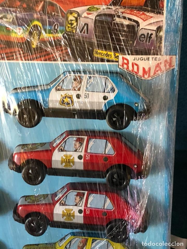 Juguetes antiguos Román: Blister con 10 coches de fricción ROMAN - Foto 5 - 184773582