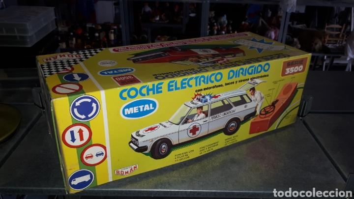 COCHE ELECTRICO DIRIGIDO BOMBEROS SERIE 3500 ROMAN (Juguetes - Marcas Clásicas - Román)