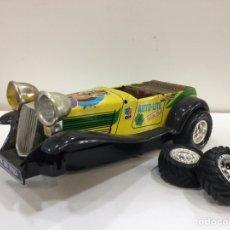 Brinquedos antigos Román: ANTIGUO COCHE ELCTRICO DE HOJALATA TIGER SERIE 300/1- PARA PIEZAS. Lote 206356870
