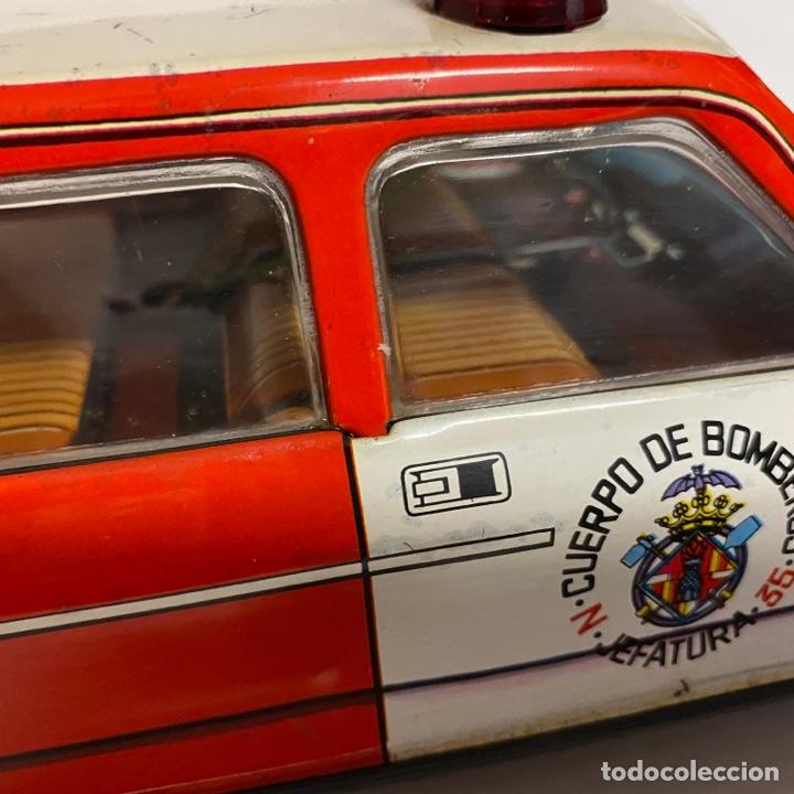 Juguetes antiguos Román: Antiguo coche salva obstáculos juguetes Román cuerpo de bomberos Jefatura 35 va a pilas - Foto 5 - 278395528