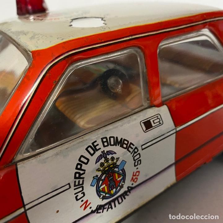 Juguetes antiguos Román: Antiguo coche salva obstáculos juguetes Román cuerpo de bomberos Jefatura 35 va a pilas - Foto 6 - 278395528
