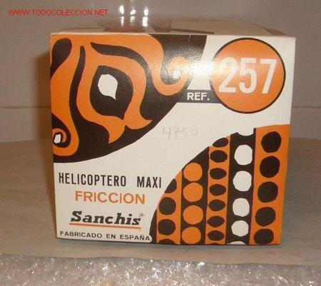 Juguetes antiguos Sanchís: HELICÓPTERO MAXI,DE SANCHIS,FRICCIÓN,CAJA ORIGINAL - Foto 4 - 27246792