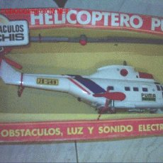 Juguetes antiguos Sanchís: HELICOPTERO PUMA CON SONIDO ELECTRONICO Y SALVAOBSTACULOS DE LA CASA SANCHIS AÑOS 80 A ESTRENAR. Lote 22763072