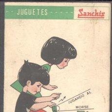 Juguetes antiguos Sanchís: JUGUETES SANCHIS INSTRUCCIONES CODIGO MORSE EJERCICIOS. Lote 13888078